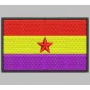 Parche Bordado Bandera REPUBLICANA (Estrella Roja)