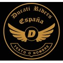 Parche Bordado DUCATI RIDERS (Color BRONCE)