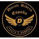 Parche Bordado DUCATI RIDERS (Color BRONCE)