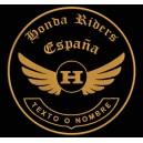 Parche Bordado HONDA RIDERS (Color BRONCE)