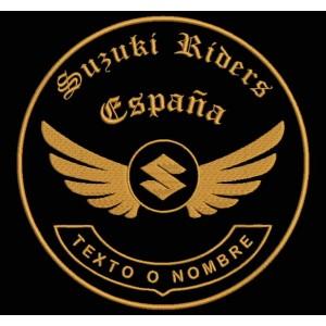 Parche Bordado SUZUKI RIDERS (Personalizable)