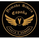 Parche Bordado YAMAHA RIDERS (Color BRONCE)