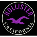 Parche Bordado HOLLISTER (Color VIOLETA)