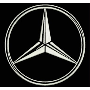 Parche Bordado MERCEDES-BENZ (Logo)