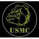 Parche Bordado USMC (Color CAQUI)