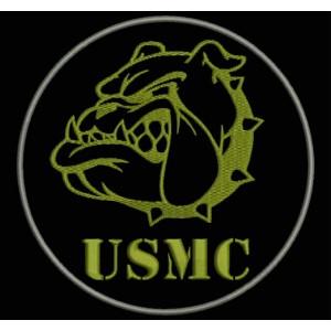 Parche Bordado USMC (US MARINE CORPS)
