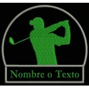 Parche Bordado GOLF (Color VERDE OSCURO)