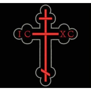 Parche Bordado CRUZ CRISTIANA IC-XC