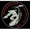Parche Bordado SNOWBOARD (Fondo NEGRO)
