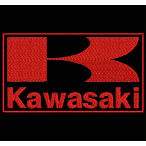 Parche Bordado Kawasaki Logo Con Letras