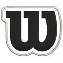 Parche Bordado WILSON (NEGRO sobre BLANCO)