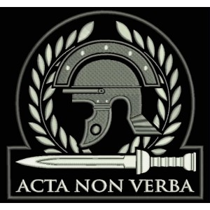 Parche Bordado CASCO ROMANO (Acta Non Verba)