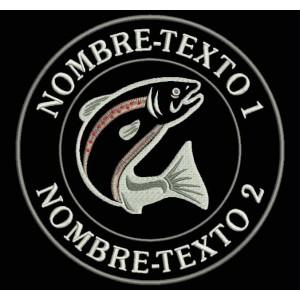 Parche Bordado PESCA TRUCHA (TROUT) FISHING (Personalizable)