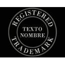 Parche Bordado MARCA REGISTRADA (Bordado BLANCO / Fondo NEGRO)