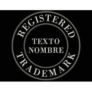 Parche Bordado MARCA REGISTRADA (Personalizable)