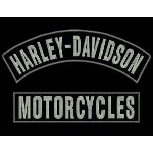 Parches Bordados HARLEY-DAVIDSON MOTORCYCLES (Set 2 uds.)
