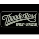 Parche Bordado THUNDER ROAD HARLEY-DAVIDSON (Color PLATA / Fondo NEGRO)