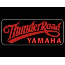 Parche Bordado THUNDER ROAD YAMAHA (Color ROJO / Fondo NEGRO)