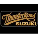 Parche Bordado THUNDER ROAD SUZUKI (Color BRONCE / Fondo NEGRO)