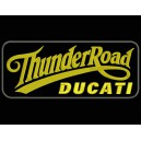Parche Bordado THUNDER ROAD DUCATI (Color ORO / Fondo NEGRO)