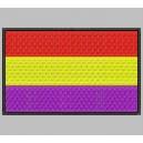 Parche Bordado Bandera ESPAÑA (REPUBLICANA)
