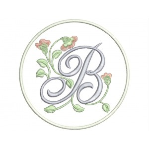 """Parche Bordado LETRA """"B"""" (Monograma)"""
