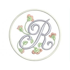 """Parche Bordado LETRA """"R"""" (Monograma)"""