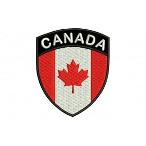 Parche Bordado Bandera CANADA (Escudo 7 x 6 cm)
