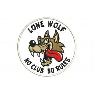 Parche Bordado LONE WOLF (No Clubs No Rules)