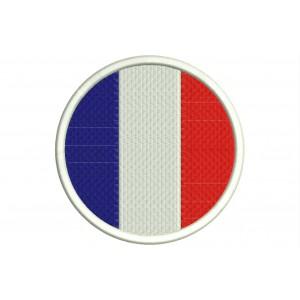 Parche Bordado Bandera FRANCIA (Circular)