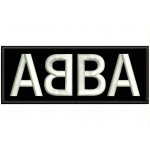 Parche Bordado ABBA