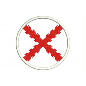 Parche Bordado Bandera CRUZ DE BORGOÑA (Circular)