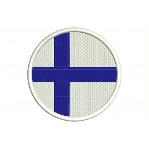 Parche Bordado Bandera FINLANDIA (Circular)
