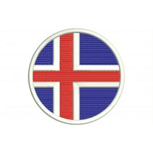 Parche Bordado Bandera ISLANDIA (Circular)