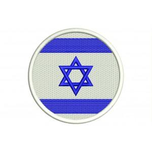 Parche Bordado Bandera ISRAEL (Circular)