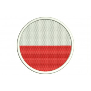 Parche Bordado Bandera POLONIA (Circular)