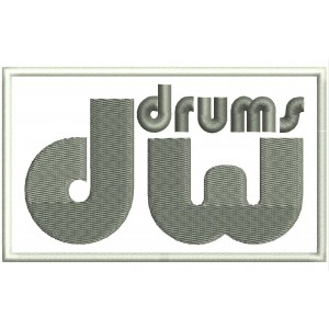 Parche Bordado DW DRUMS
