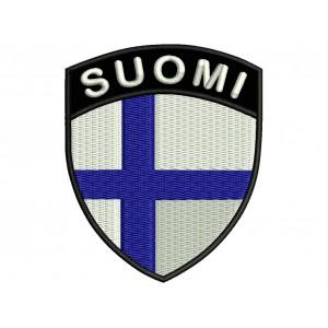 Parche Bordado Bandera FINLANDIA (Escudo 7 x 6 cm)